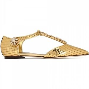 Authentic Dolce & Gabbana Pointed Toe Flats.